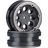 Axial AX8087 8-Hole 1.9 Beadlock Wheel, Black (2)