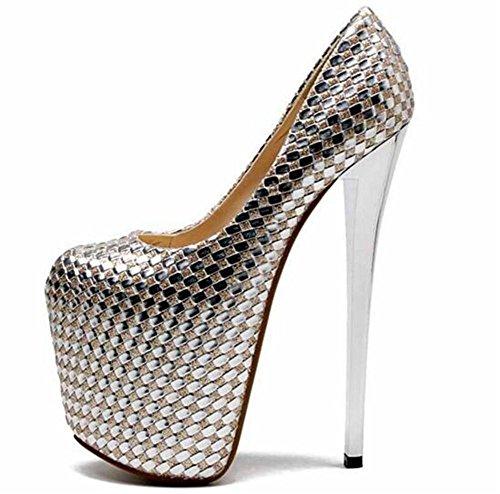 Tama Noche Plataforma 35 Fiesta Tacn Zapatos 41 De 1 Club Mujer Sandalias Bombas Aguja A O Beige Y BOxqxYC8Pw