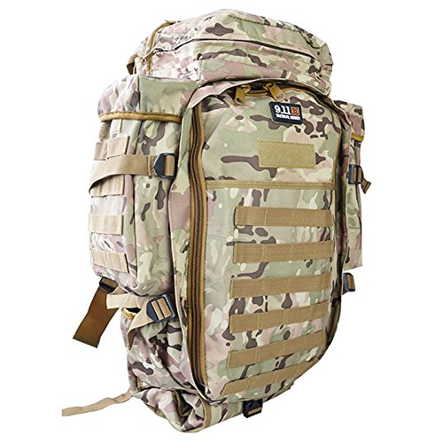 Meiyiu Sports Waterproof Backpack Adult Outdoor Oxford Cloth Package Large Capacity Unisex Multi-Functional Camping Bag CP Color