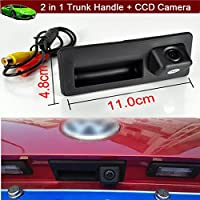 Replacement Car Trunk Handle + CCD Rear View Reverse Backup Parking Camera for Volkswagen VW Tiguan 2010 2011 2012 2013 2014 2015 2016 2017