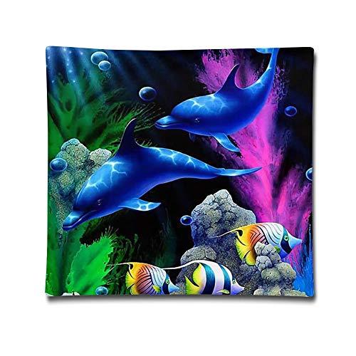 HACVREQ Pillow Cover-Ocean LifeSofa Car Decorative Pillows Case Cover Zip Cotton Linen Home Decor Kids Gift 18''X18''