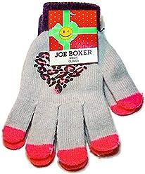 Joe Boxer Valitine Holiday Gray Star Finger Womens Winter Magic Gloves