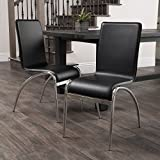 Cheap Christopher Knight Home 219163 Enola Furniture ~ Modern Design Dining Chairs (Black) (Set of 2)