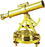 Deco 79 28147 Brass Telescope Compass Feel The Distant Objects Nearer