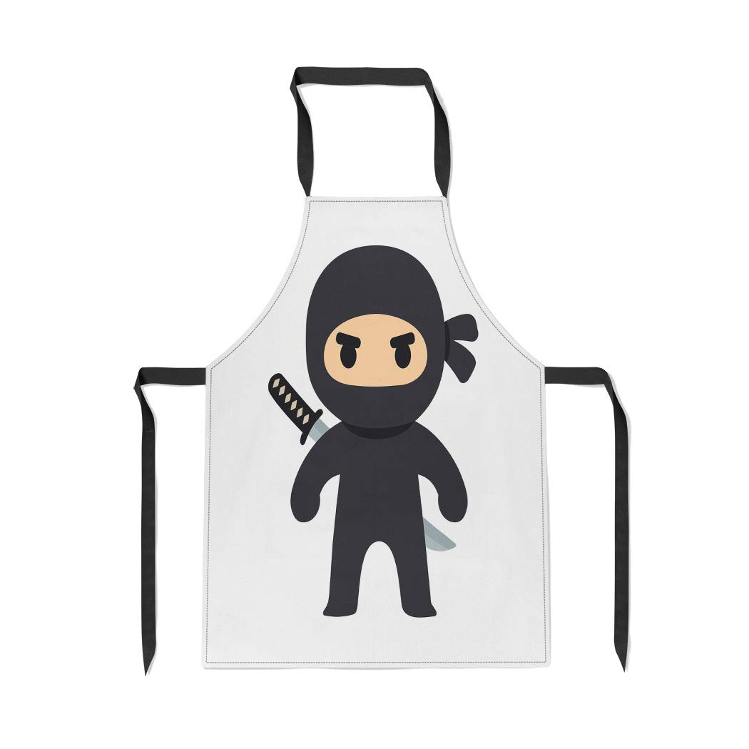 Amazon.com: Pinbeam Apron Anime Cartoon Ninja Drawing in ...