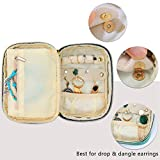 Teamoy Small Jewelry Travel Case, Portable Jewelry