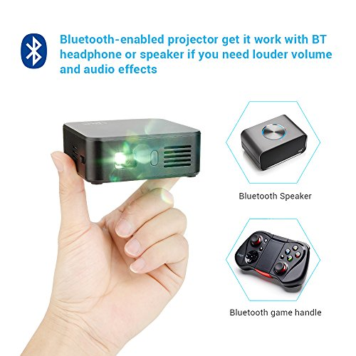 Lightwish black wifi dlp mini wireless projector home for Iphone mini projector reviews