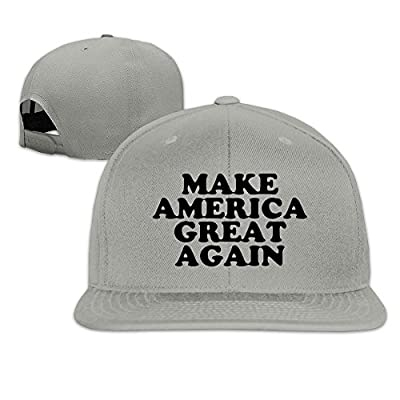 Custom Unisex-Adult Make America Great Again Casual Baseball Cap Hat Ash