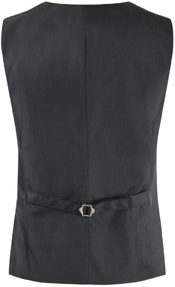 CRYYU Men Slim Vogue Solid Color Casual Single Breasted Business Suit Vest