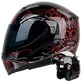 modular helmet pgr - PINSTRIPE Black Red