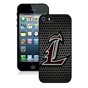 Beautiful Designed Case With NCAA American Athletic Conference AAC Football Louisville Cardinals 2 Black For Case For Iphone 5/5S Cover