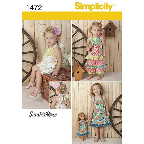 Buy matching girl and doll dress patterns - 1