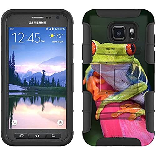 Samsung Galaxy S7 Active Armor Hybrid Case Red Eye Tree Frog 2 Piece Case with Holster for Samsung Galaxy S7 Active Sales