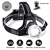 Best Bicycle Lights 5000 Lumens Rechargeables - LIGHTBEK 6000 lumens LED Light Sensing Handle Focusing Review