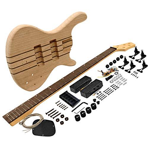 Seismic Audio – SADIYG-21 – Premium Modern Style 5 String Bass Electric DIY Guitar Kit