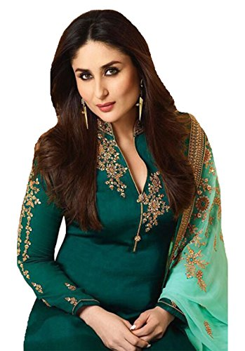 Delisa Ready Made New Designer Indian/Pakistani Fashion Dresses for Women (Dark Turquoise, X-SMALL-36)