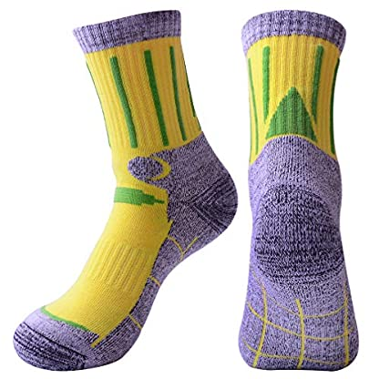 3 Pairs Men Women Hiking Walking Socks - UK Size 2-6.5, Anti Blisters, Soft, Warm, Comfortable, Breathable Nature Cotton… 3