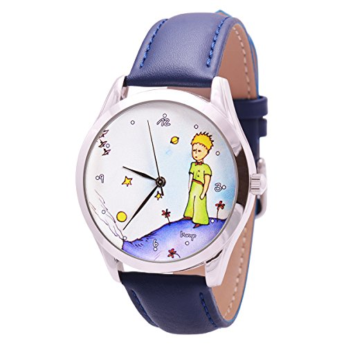 Little Prince Best Watch with Blue Leather Band - Great Book Lover Gift - Long Life Plating - Japan Movement