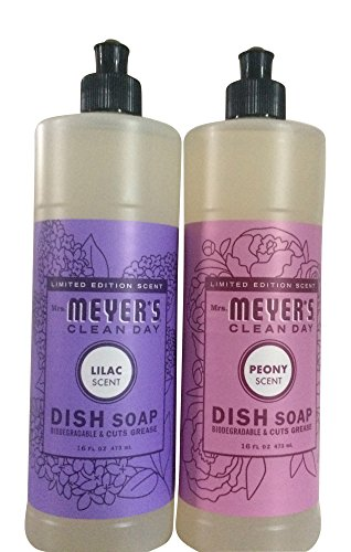 - Mrs. Meyers Clean Day Limited Edition Spring Dishwashing bundle (Lilac and Peony Scent) - 16 fl oz each