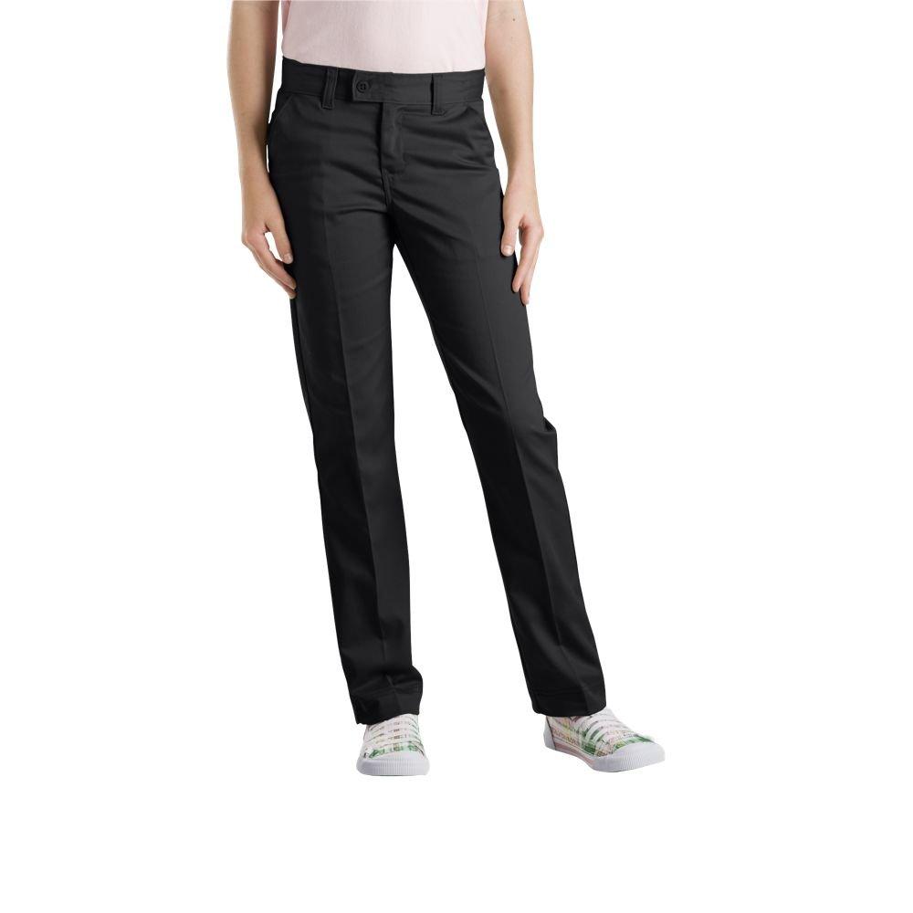 Dickies Juniors Slim Straight Stretch Pant, Black, 3