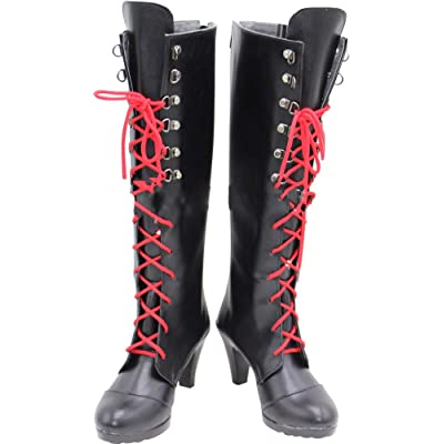 MINGCHUAN Whirl Cosplay Boots Shoes for Danganronpa Enoshima Junko: Clothing