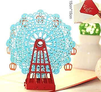 Amazon hong kong apphandmade wedding decoration 3d pop up hong kong apphandmade wedding decoration 3d pop up greeting card ferris wheel easter birthday negle Images