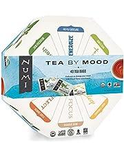 Numi Organic Tea By Mood Gift Set, 40 Count Tea Bag Assortment - Premium Organic Black, Pu-erh, Green, Mate, Rooibos & Herbal Teas (Packaging May Vary)