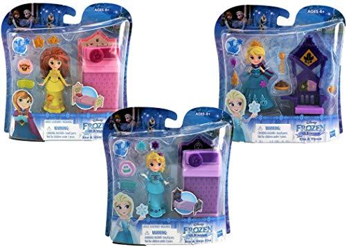 Disney Frozen Little Kingdom Play-Sets | Anna and Elsa Frozen 2 Toys Bundle | Frozen Dolls Cake Toppers]()