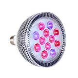 LED Grow Light Bulb, Hgrope 24 Watts High Efficient Plant Grow Lights for Garden Greenhouse and Hydroponic Indoor Plants