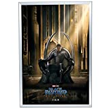 Movie Poster Frame 27x40 Inches, Fits 1/4'' Thick Foamcore, Silver SnapeZo 1.25'' Aluminum Profile, Front-Loading Snap Frame, Wall Mounted, Professional Series for One Sheet Movie Posters