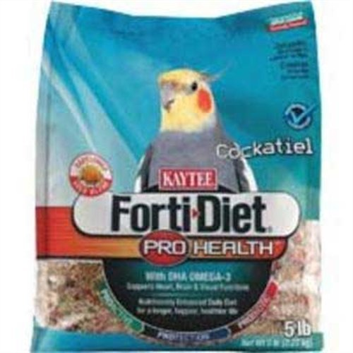 Kaytee Forti Diet Pro Health Food with Safflower for Cockatiels, 5-Pound Bag, My Pet Supplies