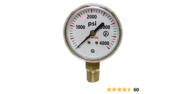 GAUGE Uniweld G51D 1.5 40 SCFH ARGON GOLD STEEL B.M