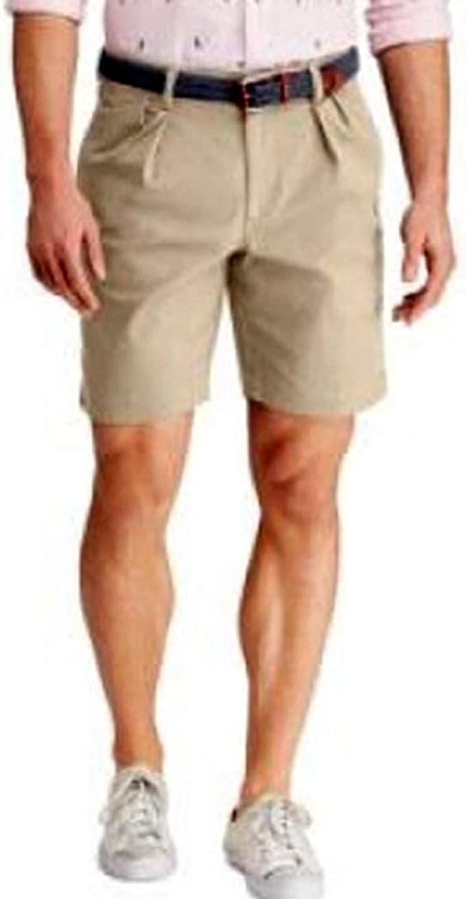 Chaps Men's Pleated Stretch Twill Short, Hampton Khaki, 32 at Amazon Men's  Clothing store