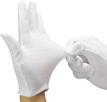 Angelikashalala guantes de algodón blanco 12 pares mujeres hombres ...