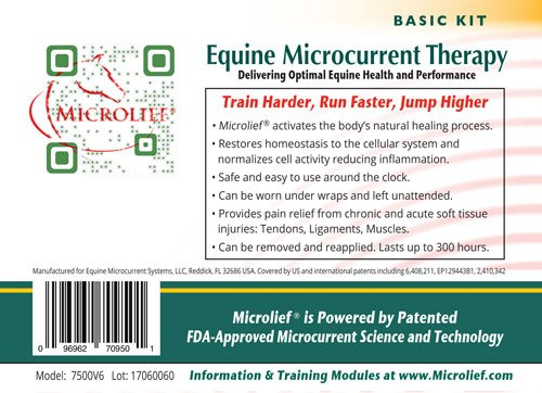 Microlief Under Wraps - Natural Pain Relief Therapy Patch for Equine Injury Prevention, Treatment, Recovery and Rehabilitation 9