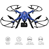 Brushless Motors Drone DROCON Blue Bugs - 300Meters Control Distance - 15 Minutes Flying Time MJX Bugs 3 Quadcopter Support Gopro HD Camera