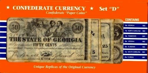 Confederate Currency 'Paper Coins' Set - Outlet Georgia North