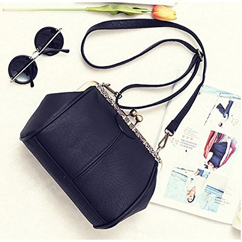 Leather Pt5 Ladies Handbag Purse Shoulder Abuyall Chains Satchel Lock Bag Crossbag Kiss Retro Pu Appliques Bag Totes Minimalist Diamonds qAAwUITx