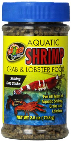 Zoo Med Laboratories SZMZM18 Aquatic Shrimp Crab Lobster Food, 2.5-Ounce