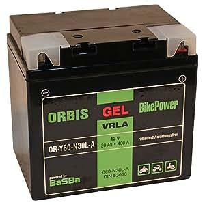 Orbis Gel53030 - Batería para moto (C60-N30L-A 53030, 12 V, 30 A, 380 A)