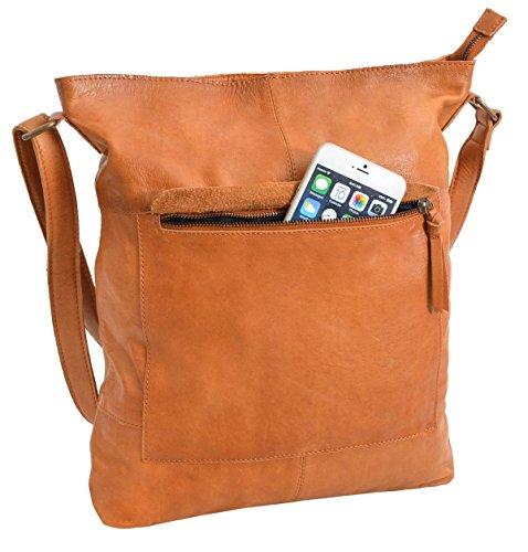 5 48 2M69 Messenger Cognac Bag studio Gusti brown Leder wx8pzwqg