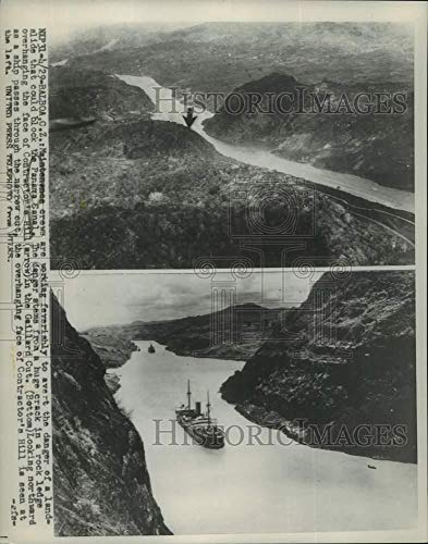 1954 Press Photo Contractor's Hill and Gaillard Cut at Panama Canal - mjc33997 - Historic Images (Best Time To See Panama Canal)