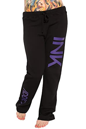 100% high quality buy good factory authentic Ink Addict Sweatpants Purple Small at Amazon Women's ...