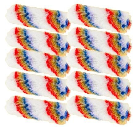 10 Stück Fellwalzen Farbwalzen 100 mm Fellrolle Farbrolle 10 cm