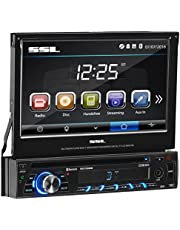 Sound Storm Labs SD726MB Single Din, Touchscreen, Bluetooth, DVD/CD/MP3/USB/SD AM/FM Car Stereo, 7 Inch Digital LCD Monitor, Detachable Front Panel