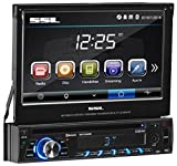 Sound Storm SD726MB Single Din, Touchscreen, Bluetooth, DVD/CD/MP3/USB/SD AM/FM Car Stereo, 7 Inch Digital LCD Monitor, Detachable Front Panel