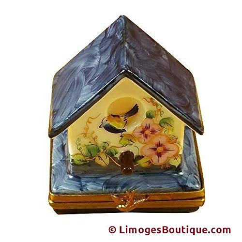 BIRD HOUSE - LIMOGES BOX AUTHENTIC PORCELAIN FIGURINE FROM FRANCE ()