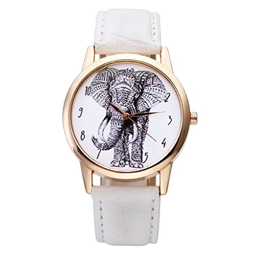Top Plaza Elephant Numerals Watch White