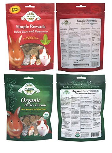 Oxbow Simple Rewards All Natural Oven Baked Treats for Rabbit, Guinea Pigs, Hamsters, and Other Small Animals Variety Pack - 6 Flavors by Oxbow Animal Health (Image #4)