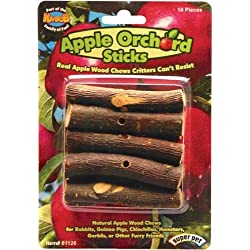 Superpet (Pets International) SSR61126 Wood Small Animal Apple Orchard Chew Sticks, 10-Count
